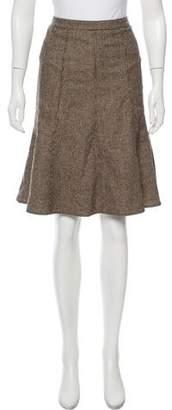 Etro Patterned Wool-Blend Skirt