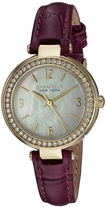 Bulova Women's Quartz Stainless Steel and Leather Casual Watch, Color:Purple (Model: 44L176) $82.50 thestylecure.com