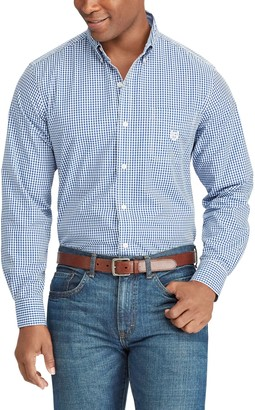 Chaps Men's Regular-Fit Gingham Plaid Button-Down Shirt