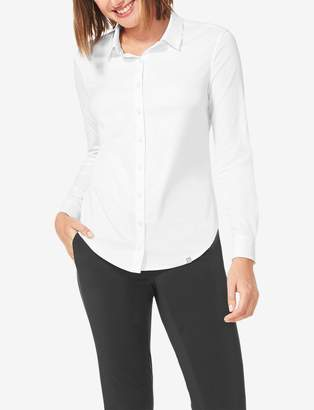 Tommy John Tommyjohn Women's Go Anywhere Slim Fit Button Down Shirt