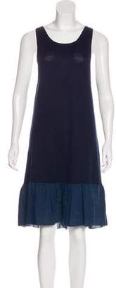 Manoush Silk & Cashmere Sleeveless Dress