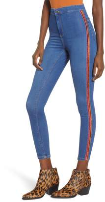 Topshop Joni Side Stripe Ankle Skinny Jeans