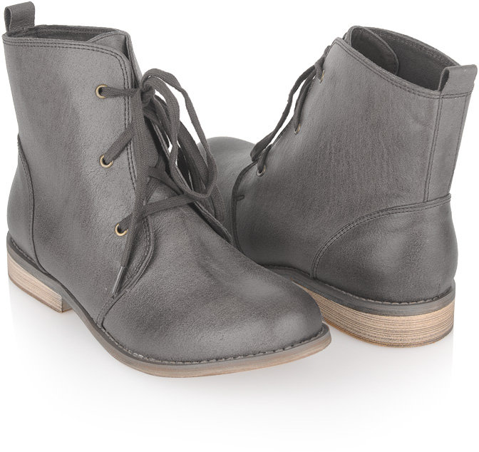 Leatherette Ankle Boots