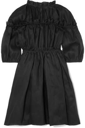 Cecilie Bahnsen - Carmen Ruffled Cotton-organza Dress - Black