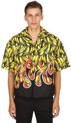 Prada Printed Nylon Gabardine Bowling Shirt