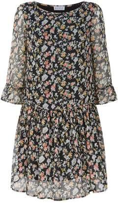 Claudie Pierlot Floral Crepe Mini Dress