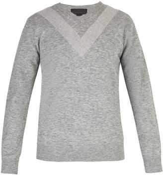 Stella McCartney Chevron wool-blend sweater
