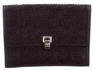 Proenza Schouler Woven Leather Lunch Clutch
