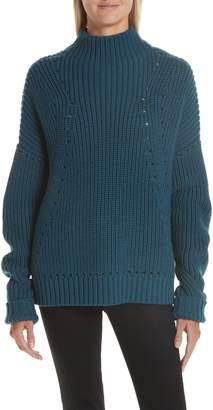 Jason Wu GREY Merino Wool Mock Neck Sweater