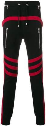 Balmain biker-panels track pants