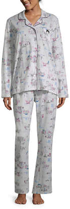 Laura Ashley Notch Collar Pant Pajama Set