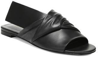 Via Spiga Women's Halina Leather Wrap Slide Sandal