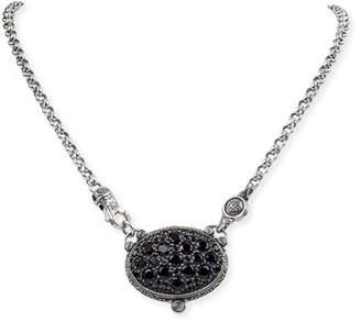 Konstantino Black Spinel Pendant Necklace