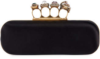 Alexander McQueen Jeweled Four-Ring Clutch Bag