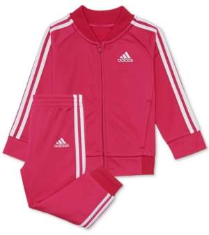 adidas Toddler Girls 2-Pc. Tricot Track Jacket & Pants Set