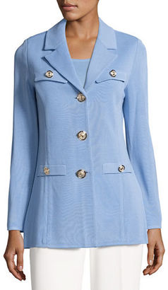 Misook Dressed Up Button-Front Jacket $578 thestylecure.com