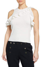 Palmer Ruffle Off-the-Shoulder Tank Top