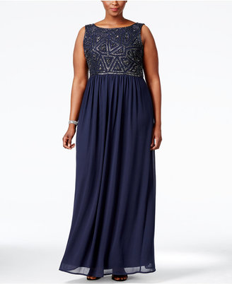 Adrianna Papell Plus Size Embellished Gown $219 thestylecure.com