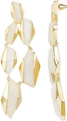 Noir Geometric Drop Earrings