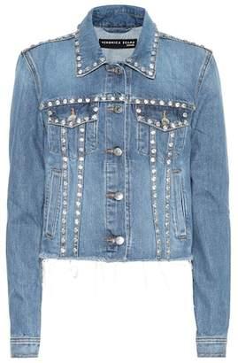 Veronica Beard Cara embellished denim jacket