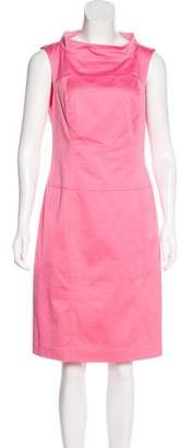 Magaschoni Bateau Neck Sheath Dress