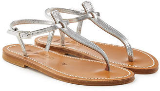 K. Jacques Picon Metallic Leather Sandals