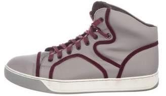 Lanvin Neoprene High-Top Sneakers