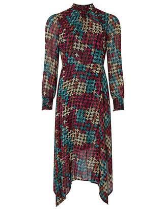 Moda In Pelle Monsoon Hazel Houndstooth Midi Dress