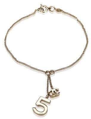 Chanel Vintage Gold Toned Charm Bracelet