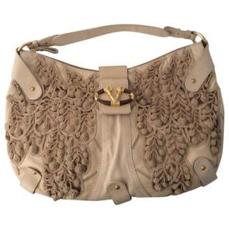 Valentino Beige Leather Handbag