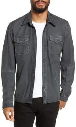 John Varvatos Snap Sheepskin Shirt Jacket