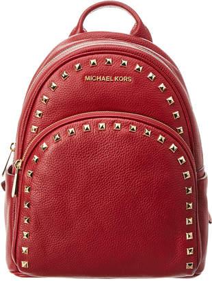 b0cc814c920a MICHAEL Michael Kors Michael Kors Abbey Medium Frame Out Studded Leather  Backpack