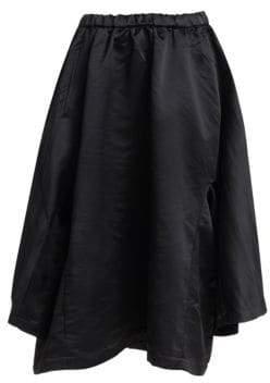 Comme des Garcons Satin Shirt-Sleeve A-Line Skirt