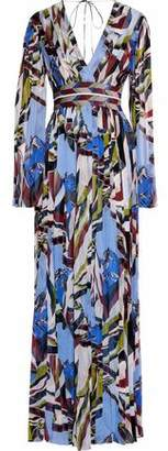 Emilio Pucci Sequin-Embellished Printed Silk Maxi Dress