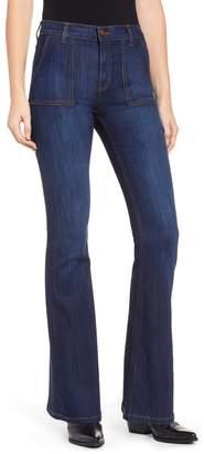 SP Black High Waist Flare Jeans