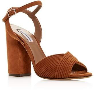 Tabitha Simmons Women's Kali Pleated Block-Heel Sandals