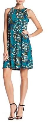 MSK Floral Halter Dress