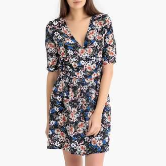 Berenice GARANCE PARIS Floral Print Short Wrapover Dress