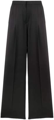 Rochas high-waist flared trousers