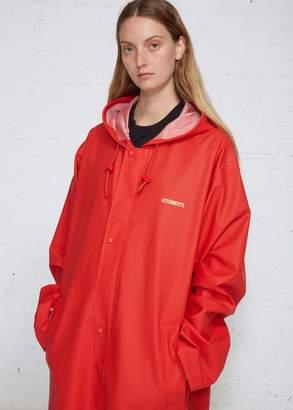 Vetements Long Logo Raincoat