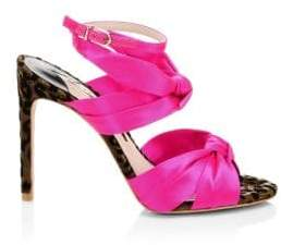 Sophia Webster Violette Satin Ankle-Strap Sandals
