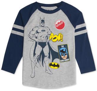 Dc Comic Toddler Boys Batman Graphic Raglan T-Shirt
