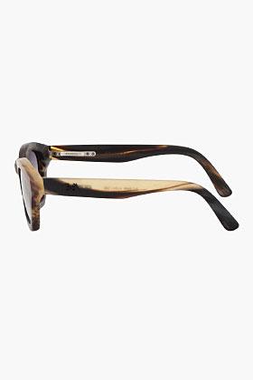 Camo RIGARDS Matte Brown Buffalo Horn Gradient Sunglasses
