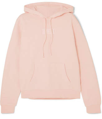 Kith Baxter Embroidered Cotton-jersey Hooded Top