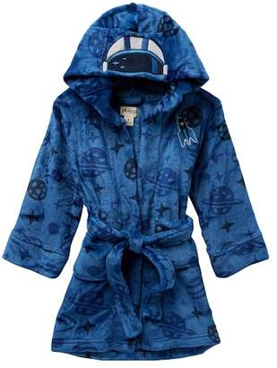 Petit Lem Space Themed Hooded Robe (Toddler & Little Boys)