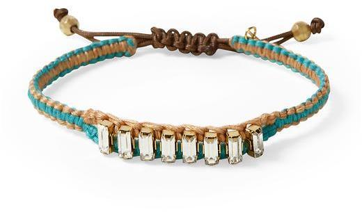 Chan Luu Rhinestone Woven Bracelet