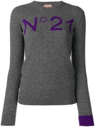 No.21 slim fit logo sweater
