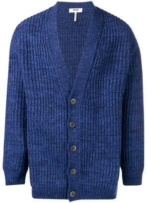 MSGM chunky knitted cardigan