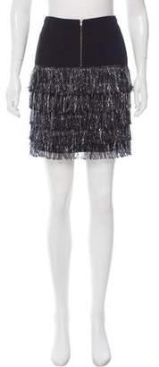 Vena Cava Fringe-Trimmed Mini Skirt