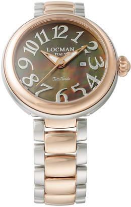 Locman (ロックマン) - LOCMAN ラウンドウォッチ デイト表示 ケース:ブラウン ベルト:コンビ